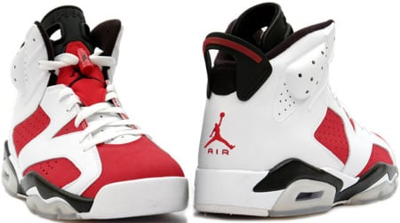 Air Jordan 6 (VI) Retro Carmines White / Black - Carmine Countdown Pack