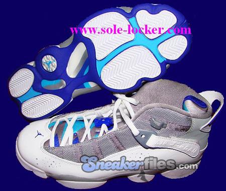 Air Jordan 6IX (Six) Rings Womens Medium Grey / White - Vivid Blue - Concord