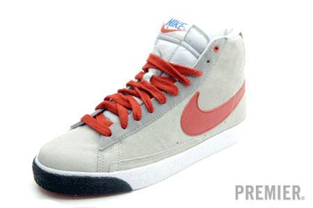 Nike Blazer Mid - Grey / Varsity Red - White - Black