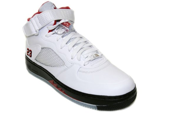 Air Jordan V (5) Force Fusion - White / Varsity Red - Black