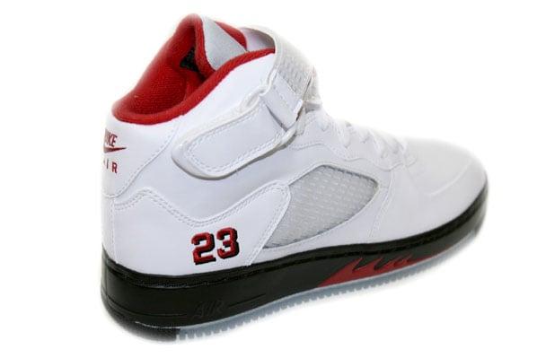 Air Jordan V (5) Force Fusion - White / Varsity Red - Black