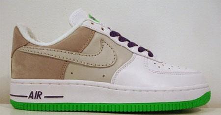 Nike Womens Air Force 1 Premium Air Max 95 - White / Neutral Grey - Grape Ice - Emerald Green