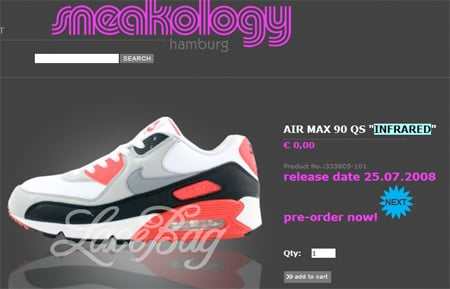 Nike Air Max 90 Infrared Re-Releasing