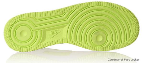 Nike Air Force 1 Womens Volt / White
