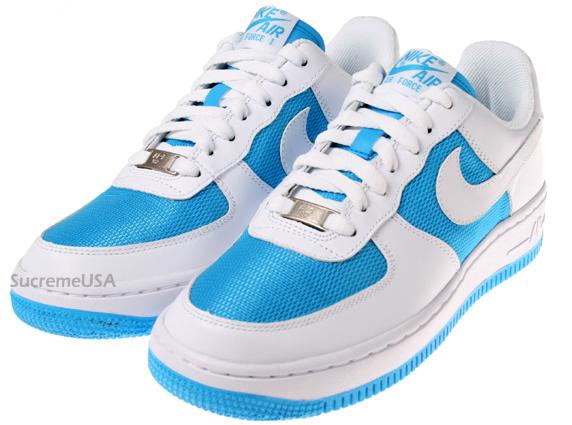 Nike Air Force 1 Womens White / Vivid Blue