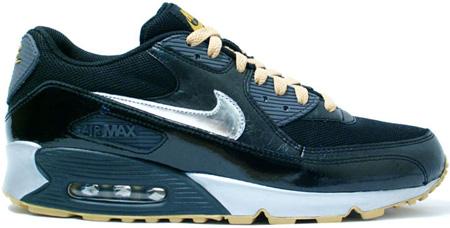 Nike Air Max 90 Black Silver Gold | SneakerFiles
