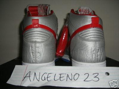 Nike Dunk High Nylon - Vandal Silver / Red Supreme