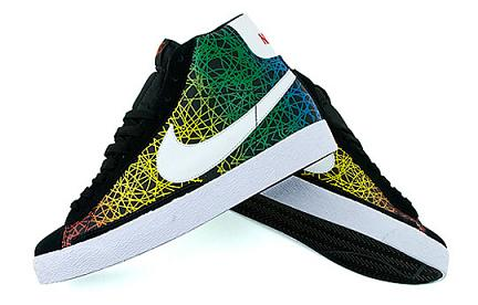 Nike Blazer High Rainbow Scribble