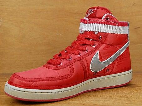 new product ab741 dca88 Nike Vandal High Vintage Supreme – Varsity Red  Metallic Silver