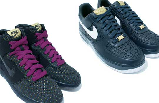 Nike Dunk Hi Polka Dot and Air Force 1 Birds Nest