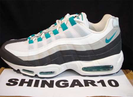 new product 81c91 0fabc Nike Air Max 95 Sample - White / Emerald Green / Grey ...