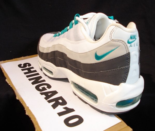d37750bd618b6c high-quality Nike Air Max 95 Sample White Emerald Green Grey Black ...