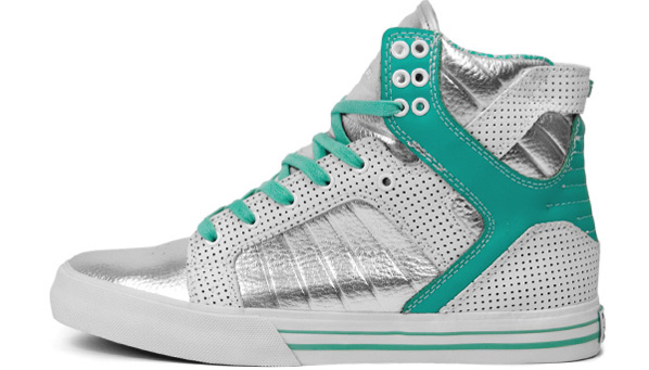 Supra Skytop Chad Muska Pro Model Silver / White / Turquoise