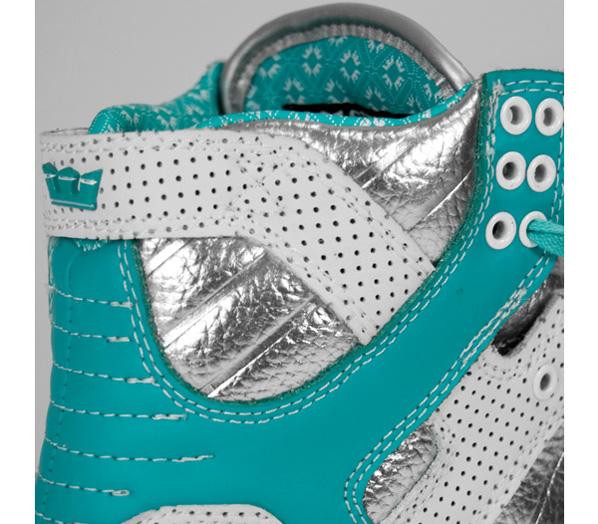 Supra Skytop Chad Muska Pro Model Silver / White / Turquoise