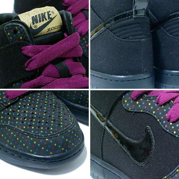 Nike Womens Dunk High Premium - Black / Multi