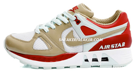 Nike Womens Air Stab - White / Beige / Red