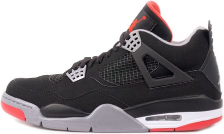 Air Jordan 4 (IV) Retro Black / Cement Grey - Fire Red Countdown Pack