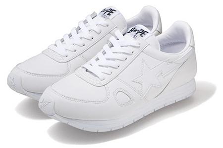Bape Tracksta White Leather