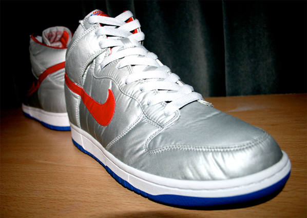 Nike Be True Dunk High Nylon - Silver / Red