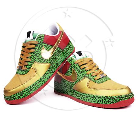 ?uestlove x Nike 1World Air Force 1 Gold Toe