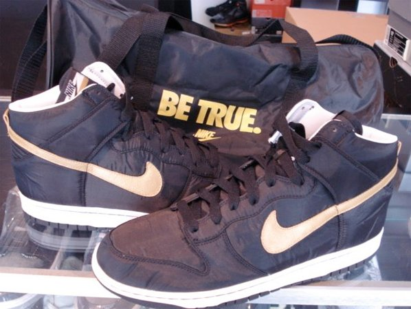 Nike Be True Vandal Dunk High - Gold / Black