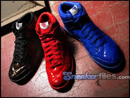 Nike Dunk High Quilted Patent Olympic Pack