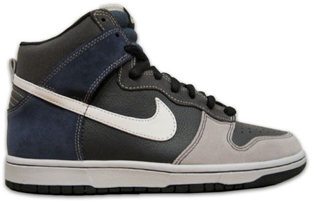 Nike Dunk High SB - Un-Futura Anthracite / Metallic Summit White