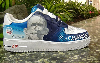 Van Taylor The Obama Sneaker Custom Air Force 1