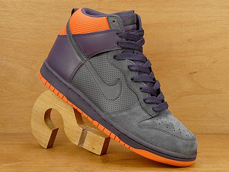 Nike Dunk High - Anthracite / Abyss / Orange