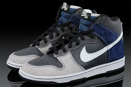 Nike Dunk High SB Un-Futura - Anthracite / Metallic Summit White