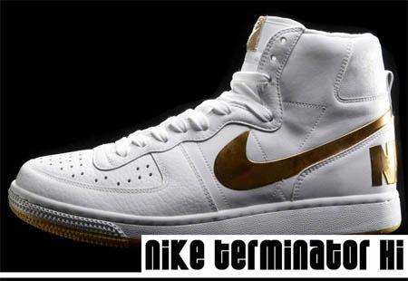 Nike Terminator High - White / Gold