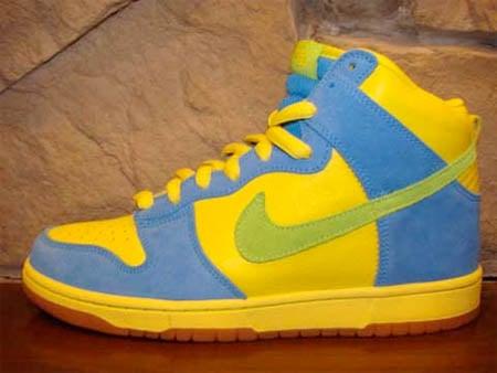 Nike SB Dunk High - Blue / Yellow / Green / Gum