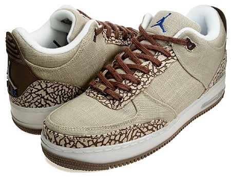 Air Jordan Force Fusion 3 - Reed / Dark Oak / White / Medium Brown