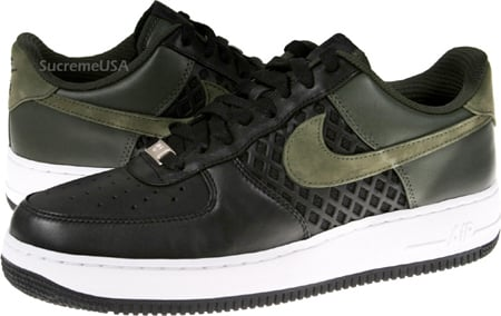 Nike Air Force 1 Premium -  Black / Dark Army