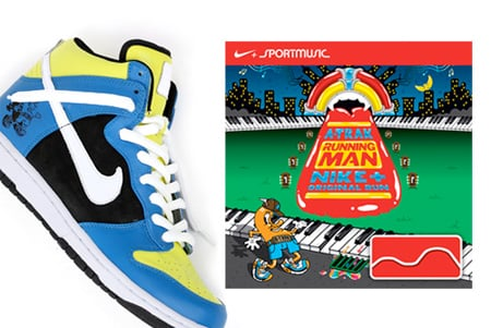A-Trak x Nike Dunk High Running Man