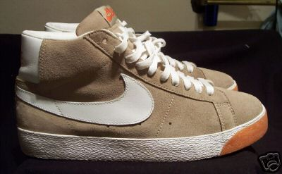 Nike SB Blazer Mid Sample - Tan   White   Orange  932e87d846