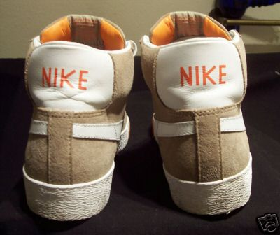 Nike SB Blazer Mid Sample - Tan / White / Orange
