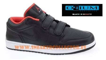 Air Jordan I (1) Low Velcro - Black / Orange
