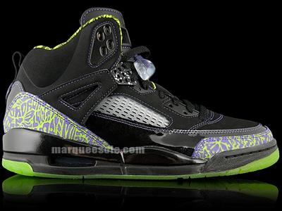 Air Jordan Spizike Euro Exclusive - Black / Cactus / Violet