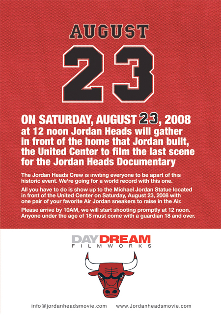 Jordan Heads Documentary Shoot