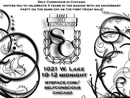 Self-Conscious 3 Year Anniversary Party and Friday Sale Today!