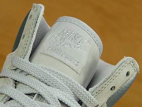 Nike Court Force High - Nuetral Grey / Metallic Silver / White