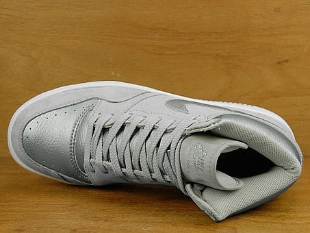 Nike Court Force High - Nuetral Grey / Metallic Silver / White
