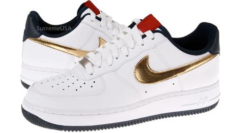 Nike Air Force 1 Olympics White Metallic Gold Obsidian