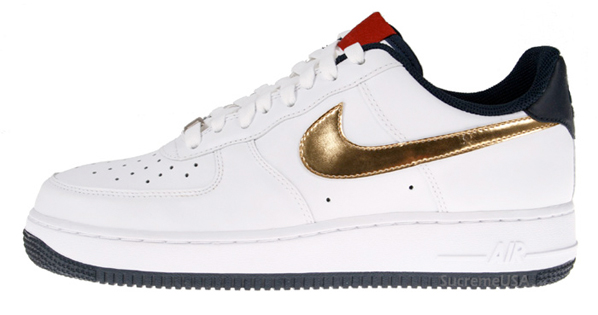 Nike Air Force 1 Olympics - White / Metallic Gold / Obsidian
