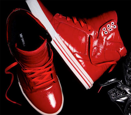 Supra NS Skytop - Patent Leather Red