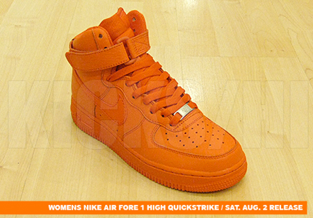 Nike Womens Air Force 1 High Quickstrike - Solid Red