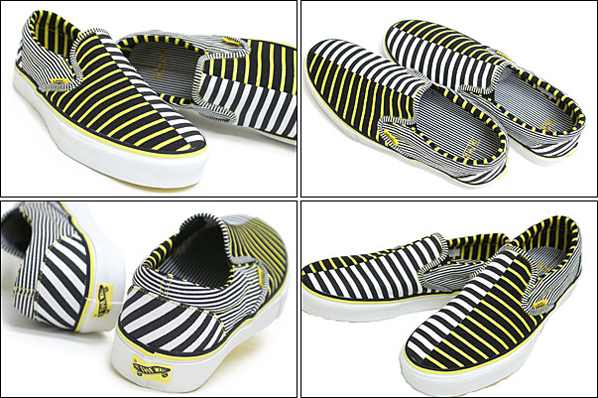 Vans Vault Slip-On LX Black / True Yellow Stripe