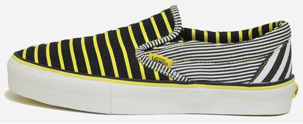 Vans Vault Slip-On LX Black / True Yellow Stripe