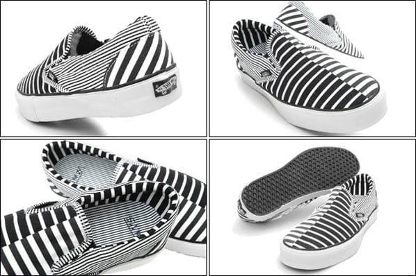 Vans Vault Slip-On LX Black / White Stripe